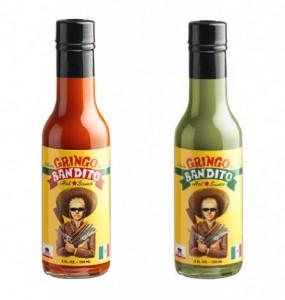 Sauce piquante de couleurs différentes