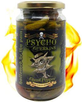 Psycho Pickles Ghost Pepper Gherkins