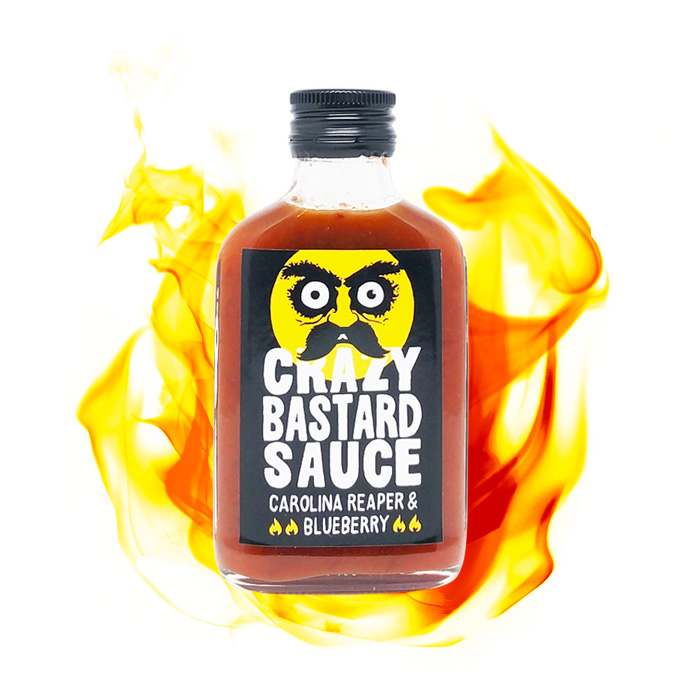 Crazy Bastard Sauce Carolina Reaper & Blueberry
