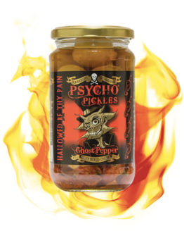 Psycho Juice Pickels Ghost Pepper Onions